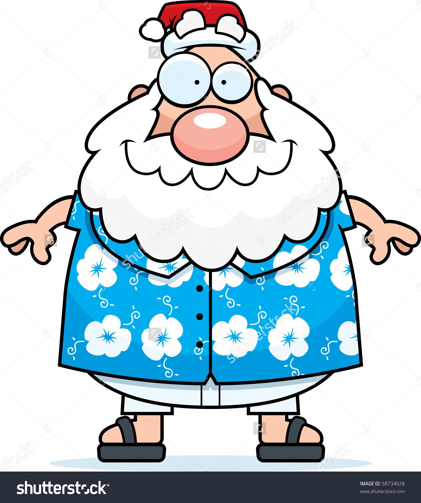 Showing post & media for Hawaiian santa cartoon.