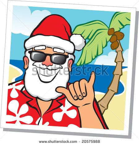 Hawaiian Santa Stock Photos, Royalty.