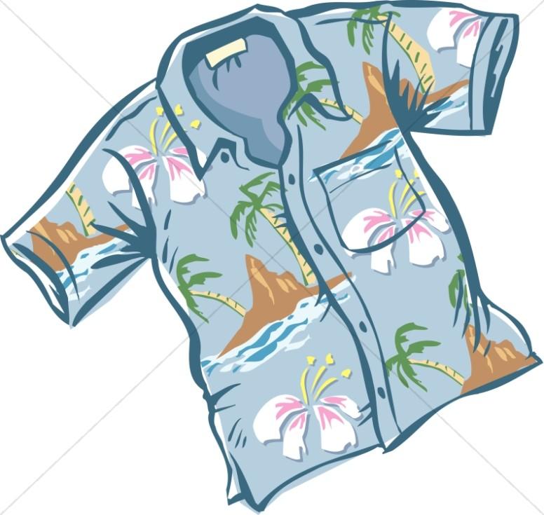 Nice Blue Hawaiian Shirt.