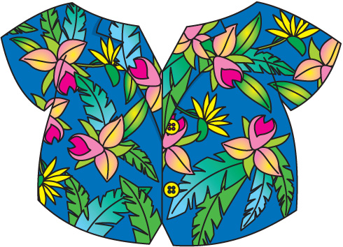 Hawaiian shirt clip art free clipart images 2.