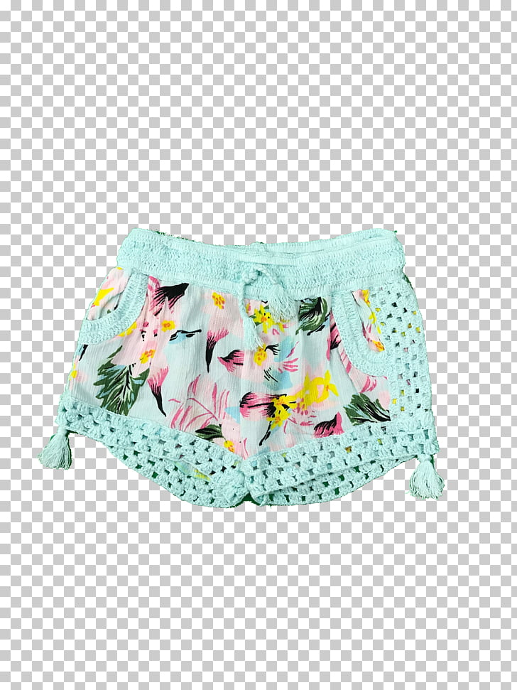Shorts Underpants Briefs Swimsuit Turquoise, Hawaiian.