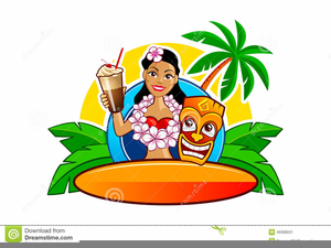 Hawaiian Surfer Clipart.