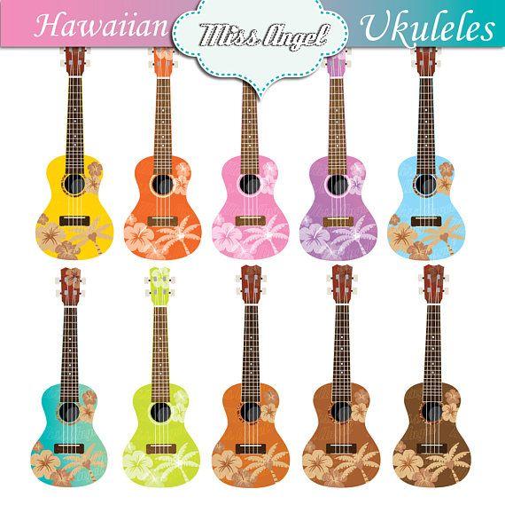 Hawaii ukulele clip art. Hawaiian ukuleles clip art.