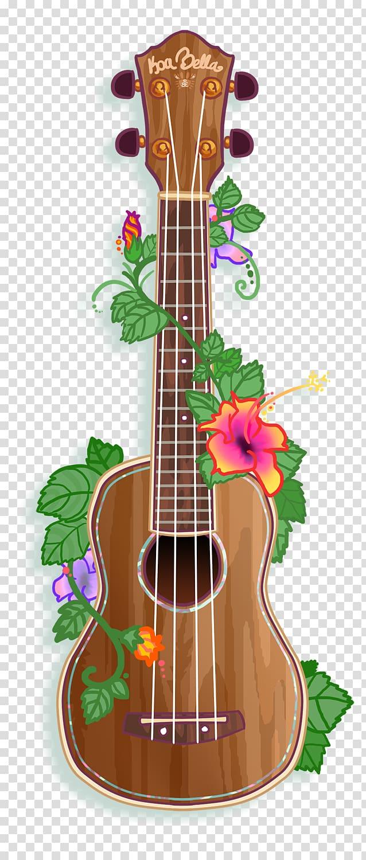 Brown ukulele , Hawaii Ukulele Acoustic guitar Musical.