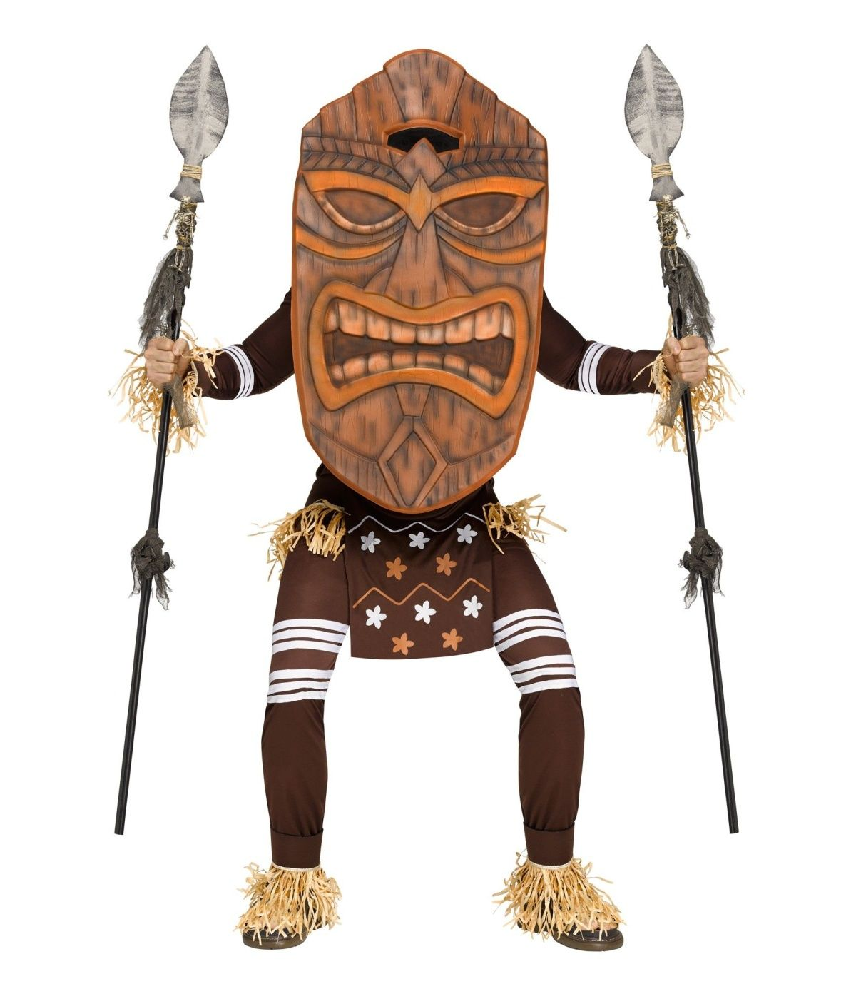 Tiki Warrior Mens Costume.