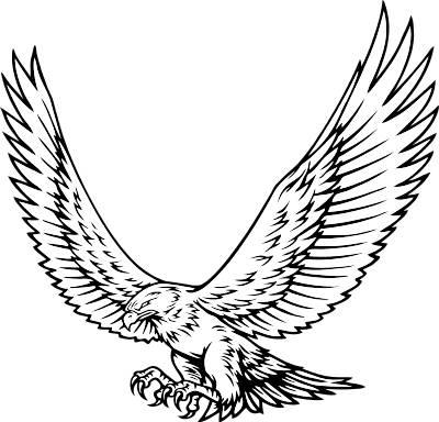 Hawk mascot clipart 3.