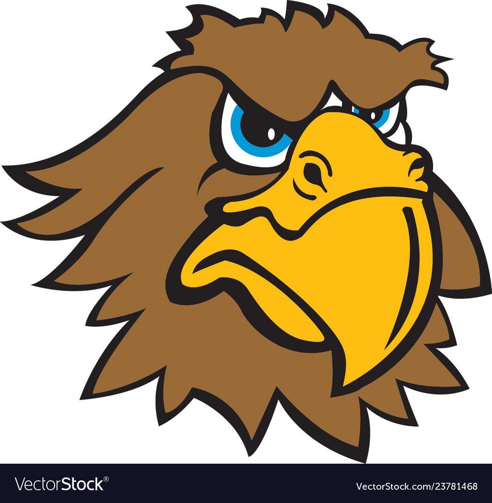 Hawk head logo mascot.