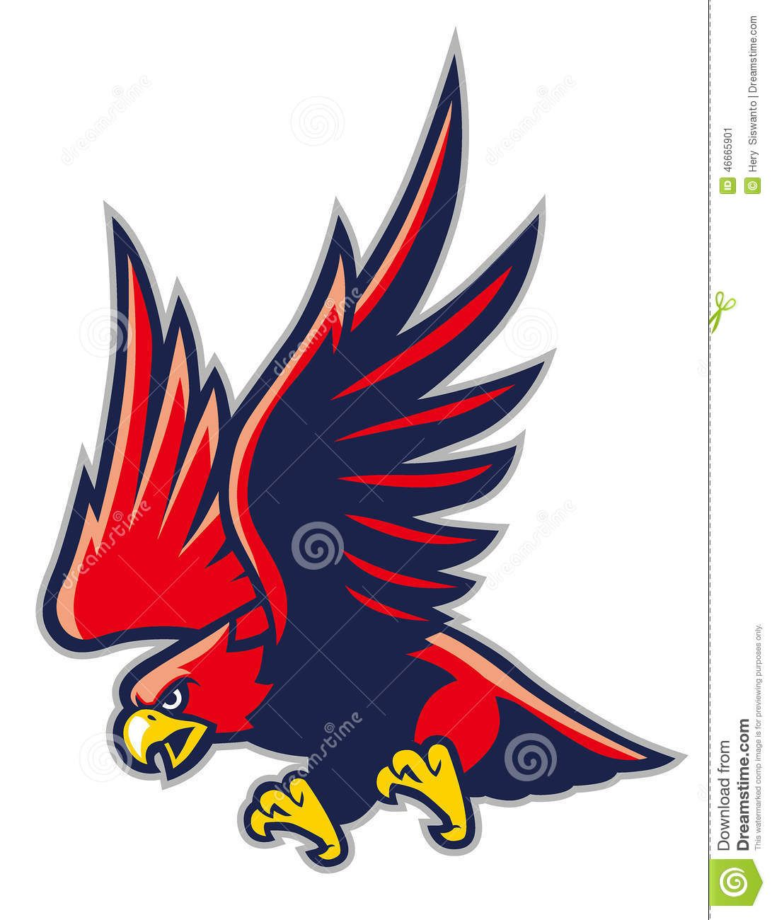 Hawk mascot.