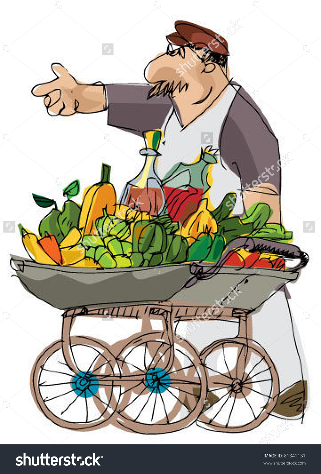 Vintage Vendor Stock Vector 81341131.