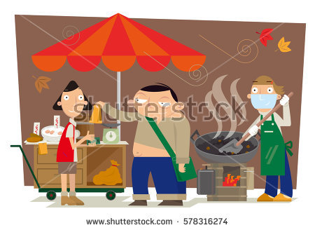 Street Hawker Stock Photos, Royalty.