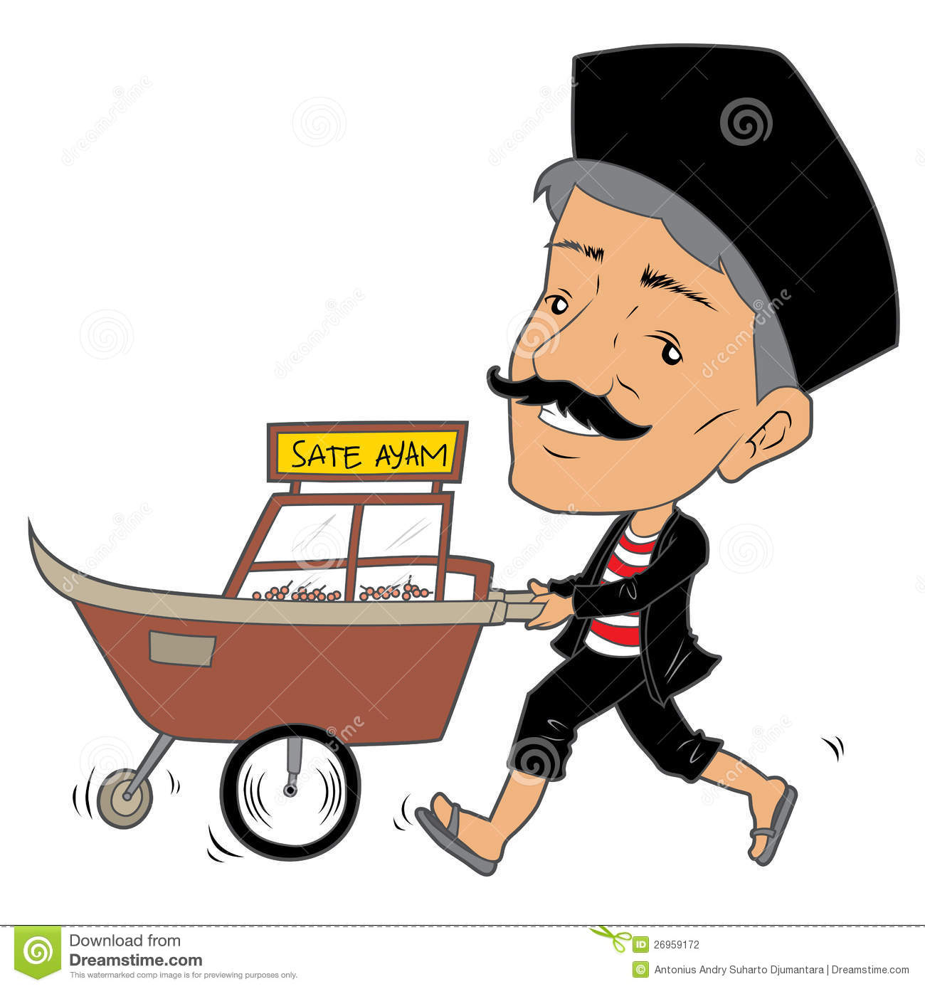 Street Hawkers Clipart.