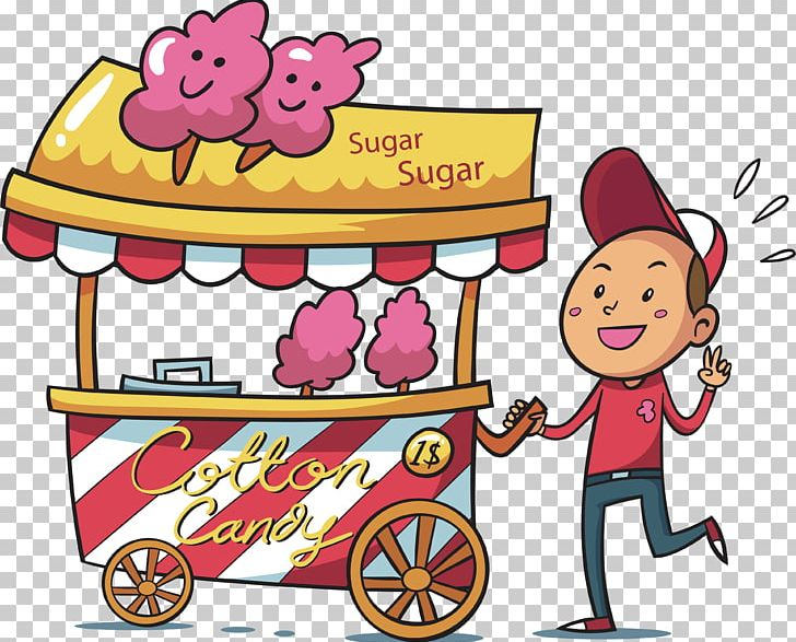 Cotton Candy Hawker Drawing Illustration PNG, Clipart, Adobe.