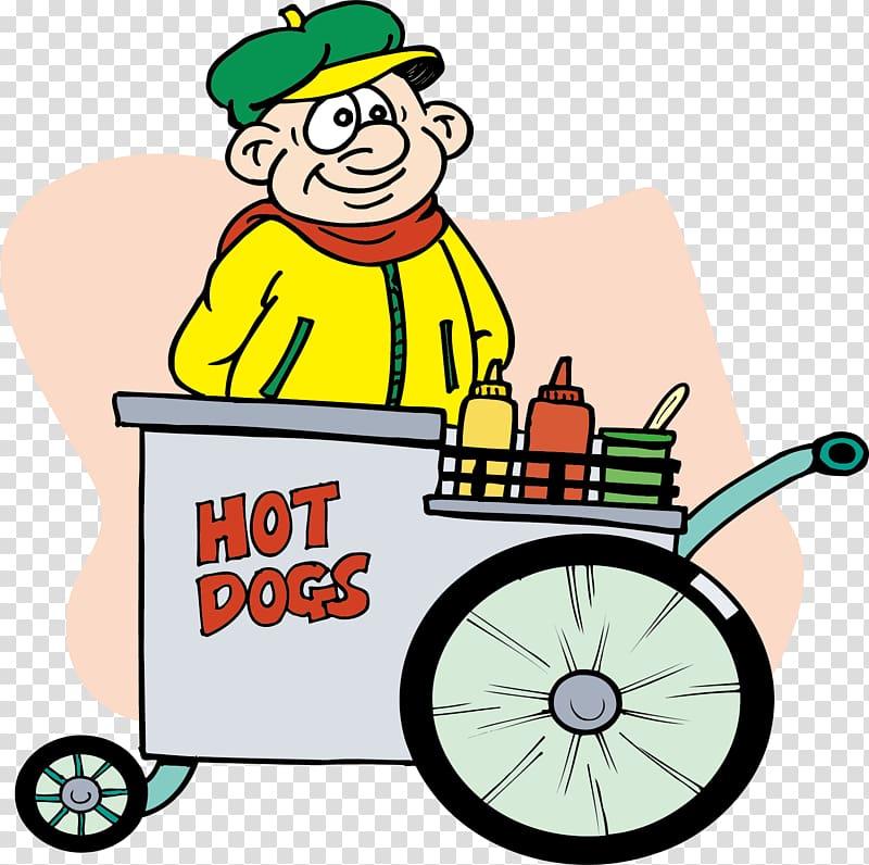 Hot dog cart Street food Hot dog stand , Hot dog hawker.