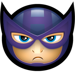 Hawkeye Head Icon, PNG ClipArt Image.