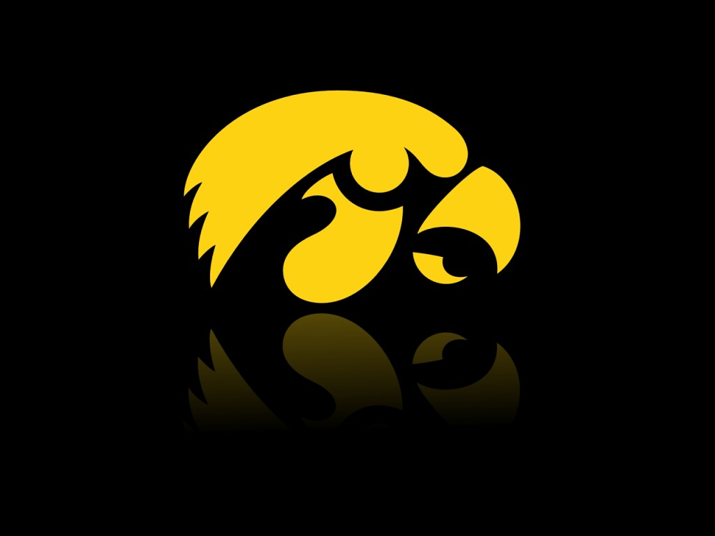 Iowa Hawkeyes Logo Desktop Background (1024 x 768).