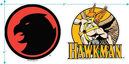 Hawkman DC Comics T Shirt & Stickers.