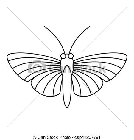 EPS Vectors of Hawk moth butterfly icon, outline style.