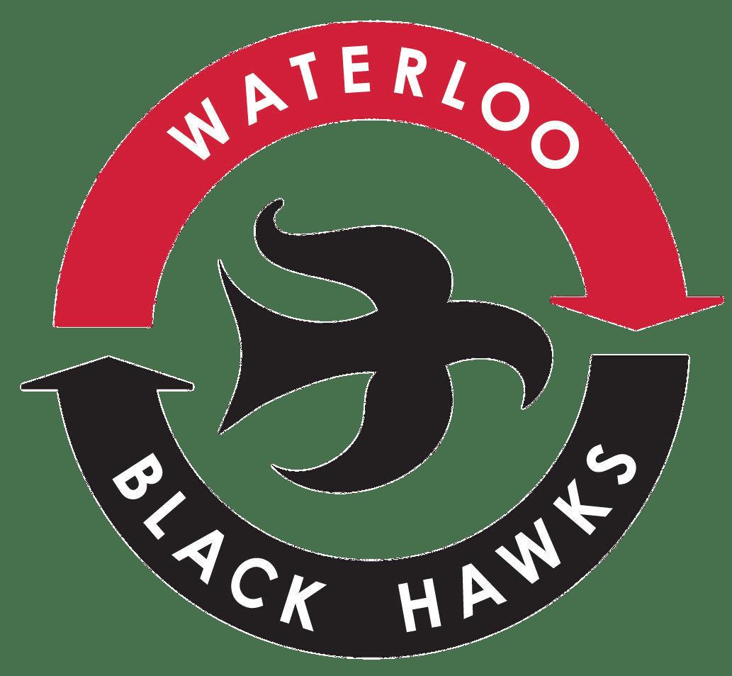 Waterloo Black Hawks Logo transparent PNG.