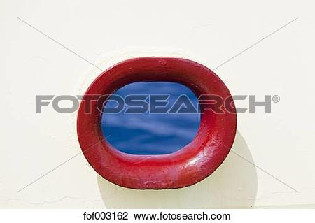 Stock Photo of Hole for hawser on ship fof003162.