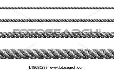 Pictures of Steel metal hawser set isolated k19685288.