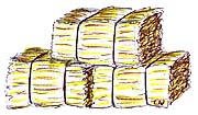 Square Hay Bale Clipart.