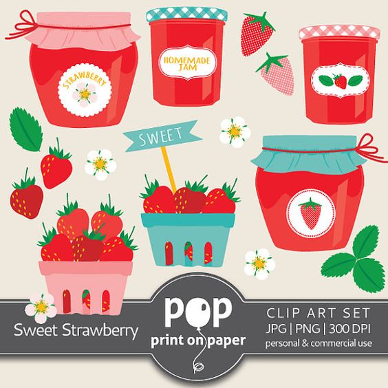 Strawberry Clip Art, Sweet Strawberry cliparts, berries clipart.