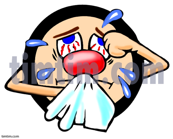 Hay fever clipart #11