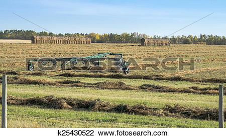 Stock Photo of Hay Windrow Machine k25430522.