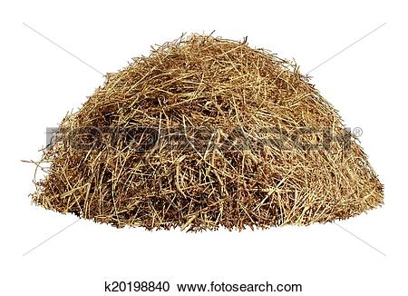 Stock Photography of Hay Pile k20198840.