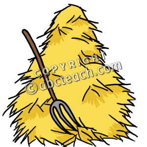 Hay pile clipart.