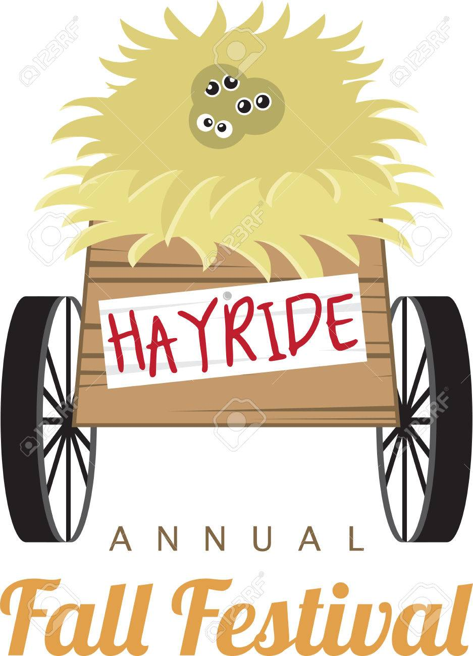 This hayride design is perfect for your fun fall project..