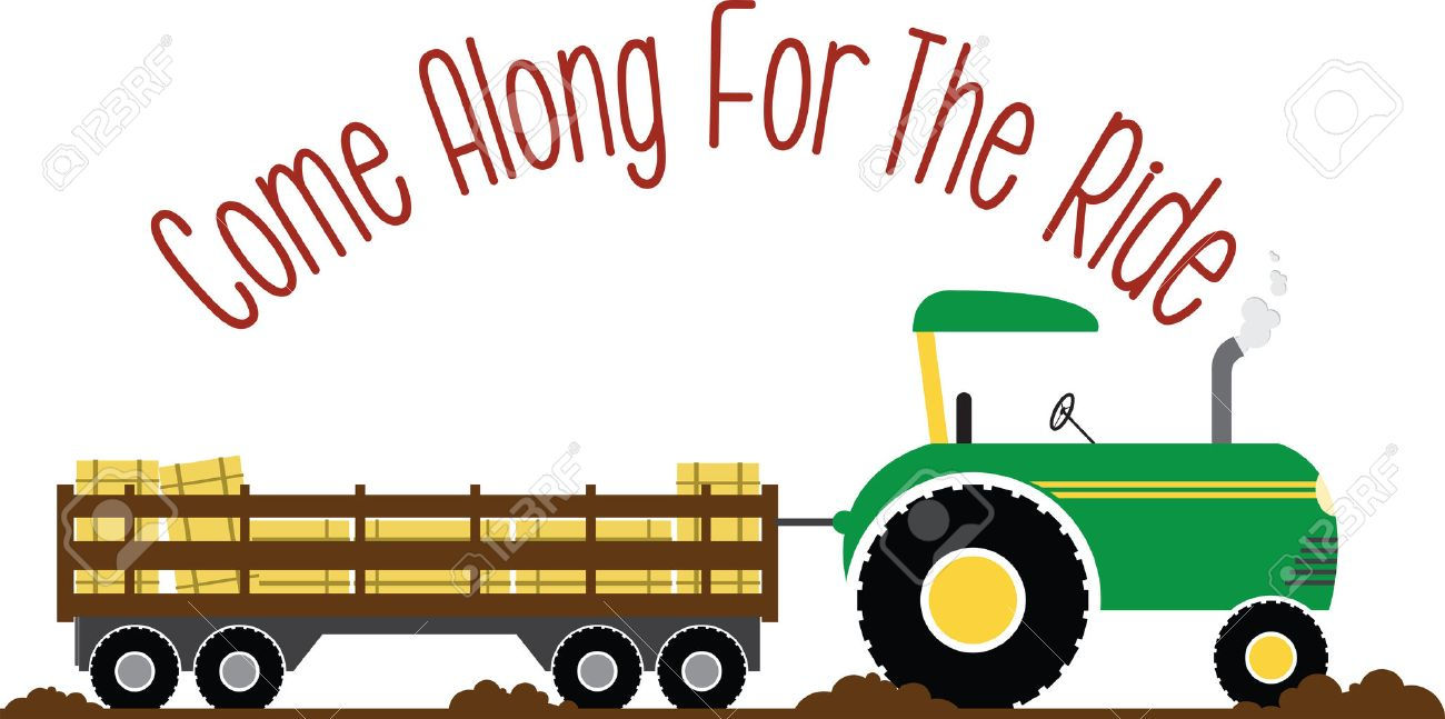Have fun on this tractor hayride to your pumpkin patch project..
