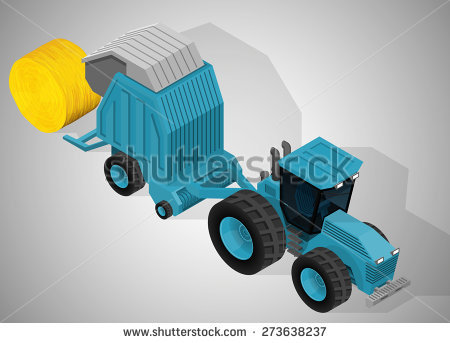 Hay Balers Stock Photos, Royalty.