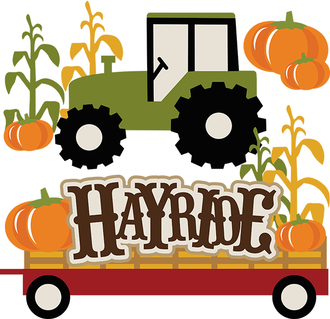 Cute Landscape Scene with Hay Wagon - Download Free ... |Hayride Wagon Clipart