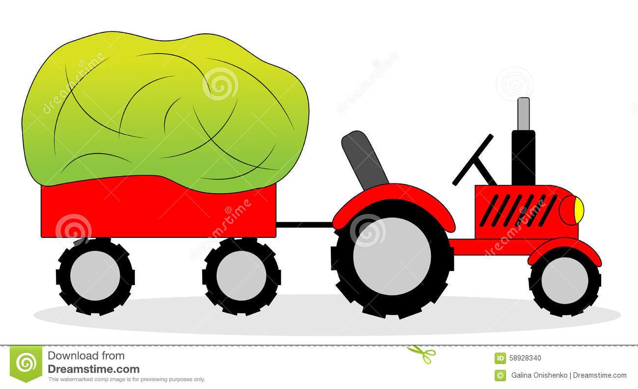 Tractor Hay Wagon Stock Illustrations.