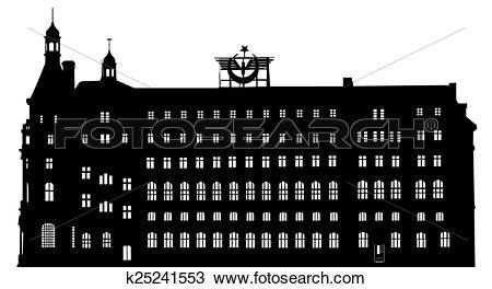 Drawing of silhouette of Haydarpasa railway te k25241553.