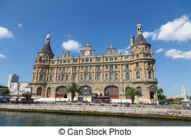 Stock Images of Haydarpasa Train Station in Istanbul City, Turkey.