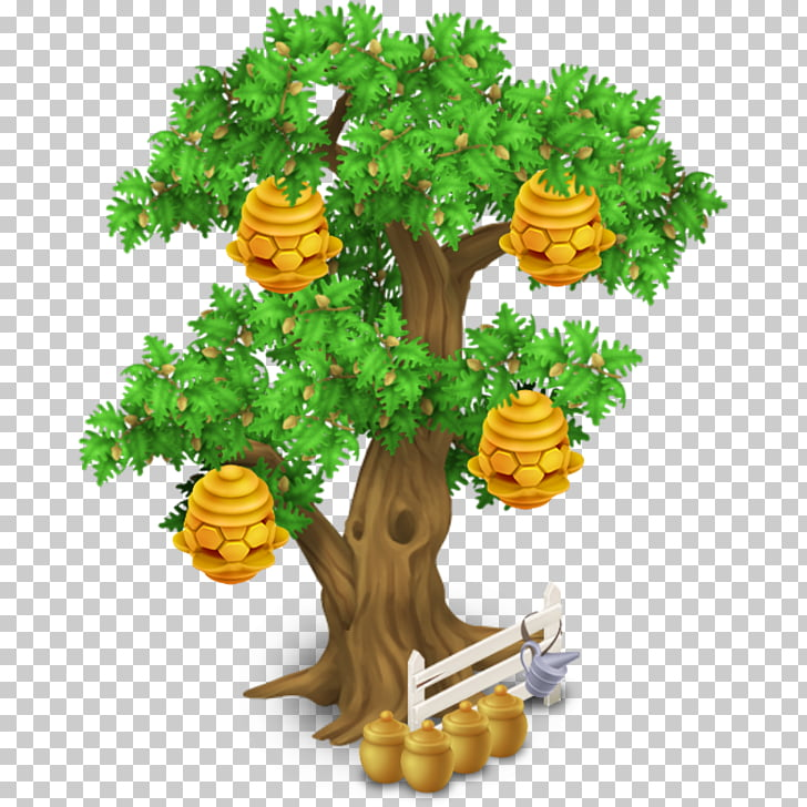 Hay Day Beehive Tree , beehive PNG clipart.