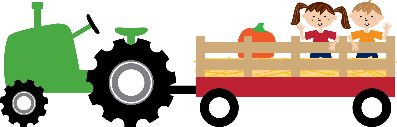 Collection of Hayride clipart.