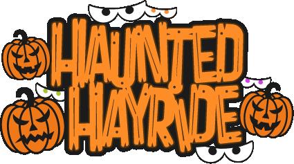Halloween Hayride Clipart.