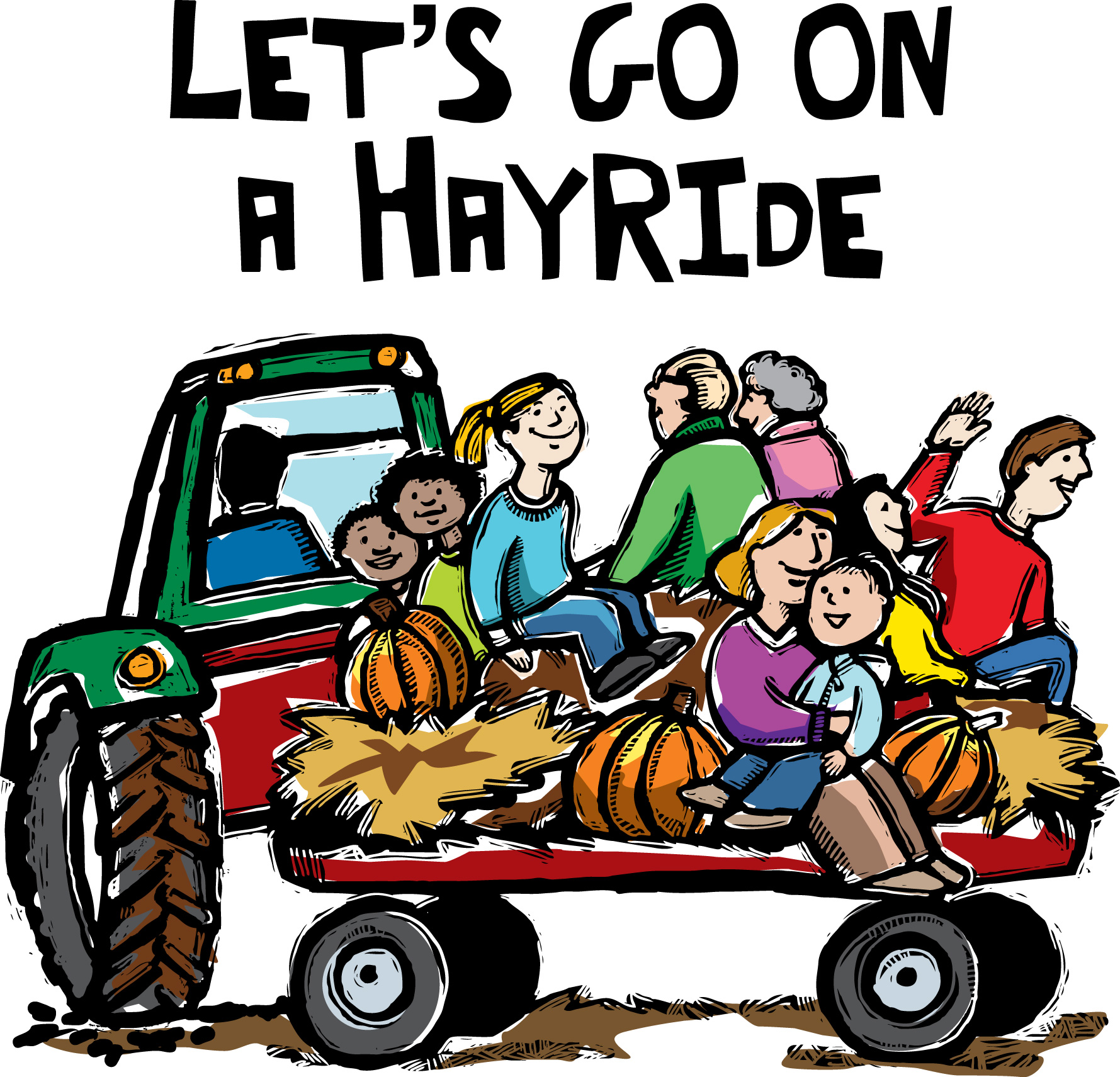 Fall Hayride Clipart.