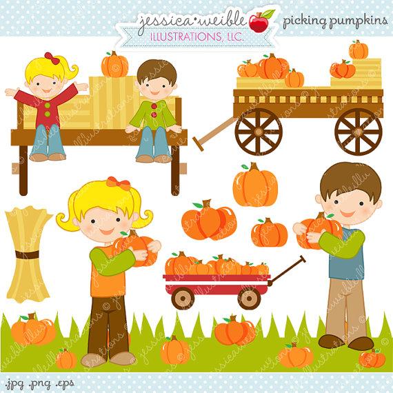 Hayride And Pumpkin Clipart.