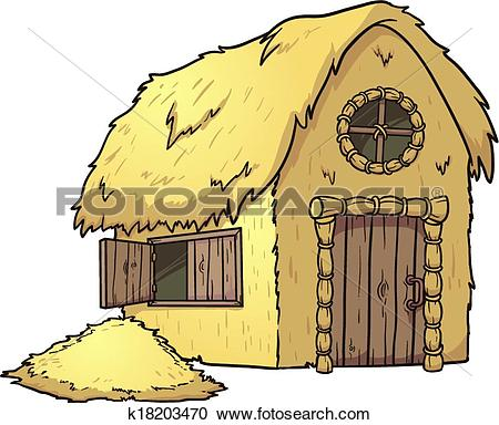 Clipart of Hay House k18203470.