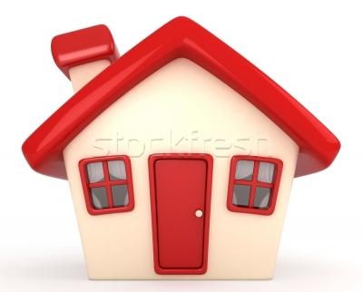 房子· 家· 紅色· 建築· 漫畫.