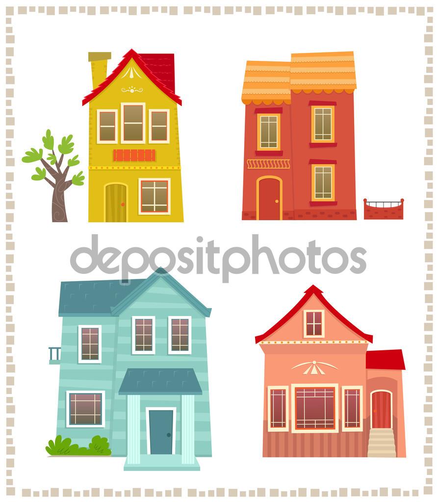 Két emeletes házak — Stock Vektor © bilhagolan #75484703.
