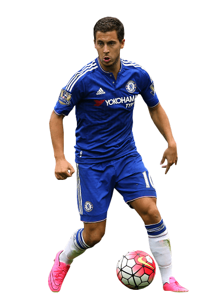 Eden Hazard Front transparent PNG.