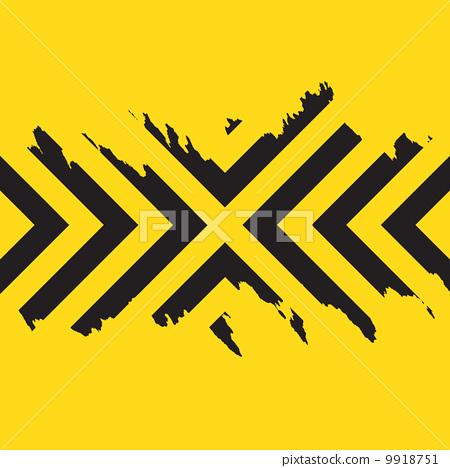 Work Hazard Stripes Texture.