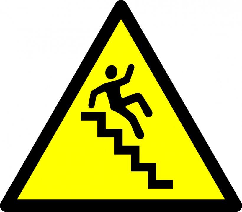 Warning Sign Stairs Hazard Symbol Clip Art, PNG, 1155x1009px.