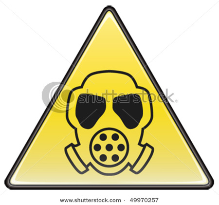 Mask Vector Triangle Hazardous Sign.