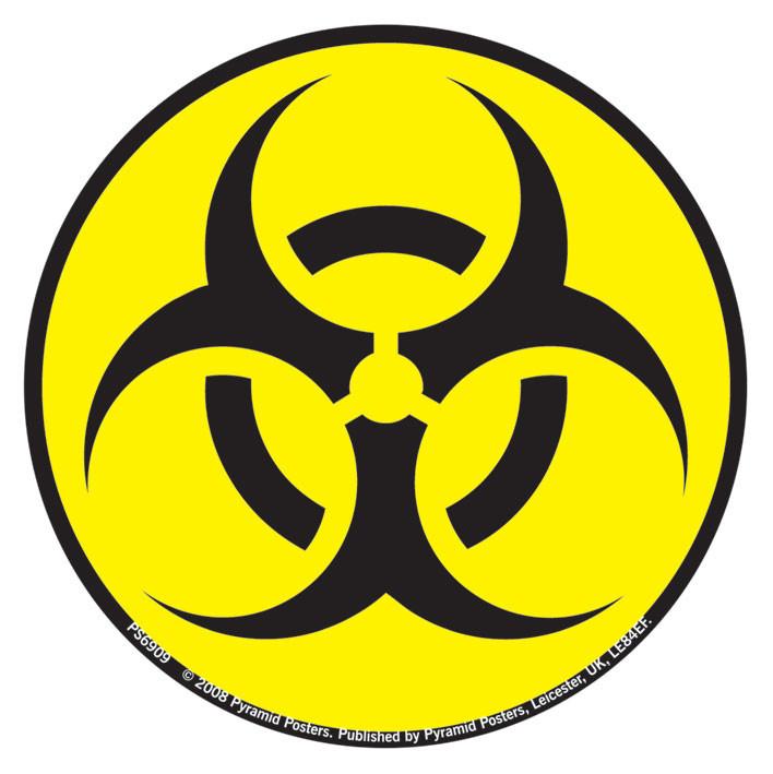 Hazardous waste signs clip art.